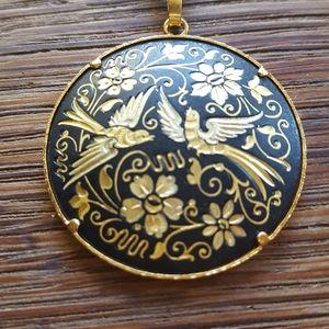 Spanish vintage bird necklace